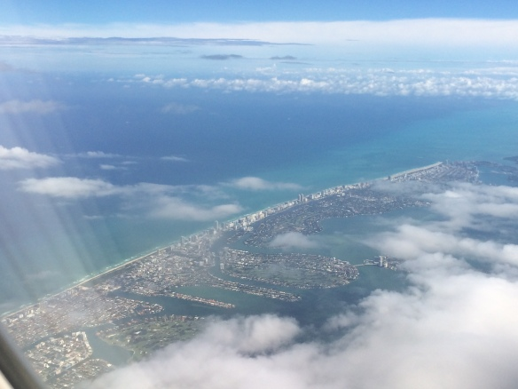 First glimpse of Miami and the famous beaches