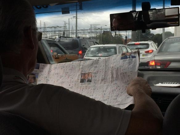 Attentive taxi driver