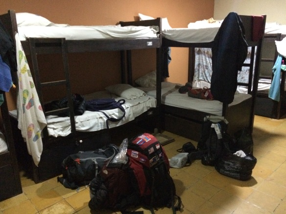 Back with the backpackers in a dorm