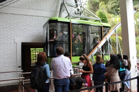 Cable car to the top