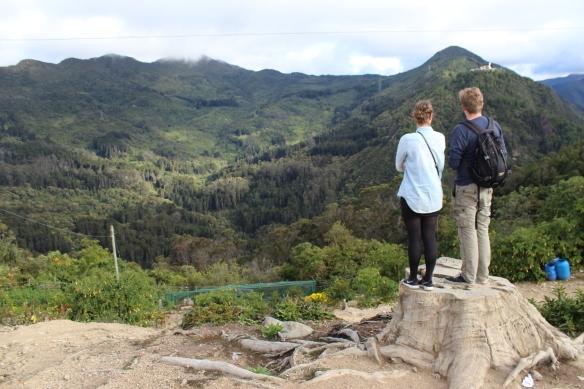 Mountains behind Bogota