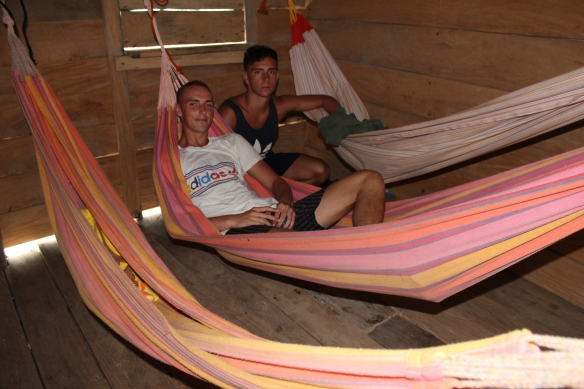 With Niall and Stef in the hammocks dorm!