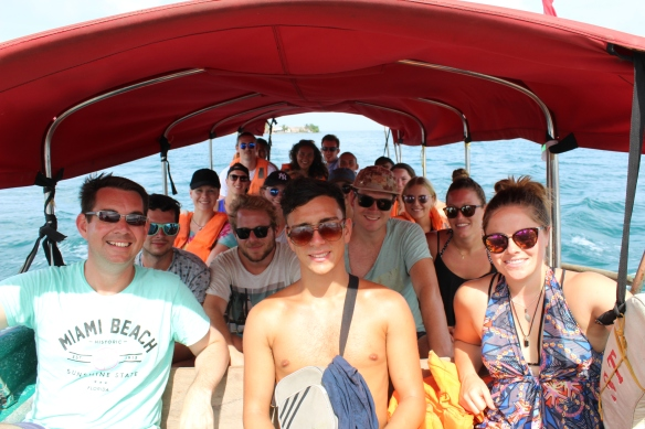 Onboard the San Blas Adventure speedboat
